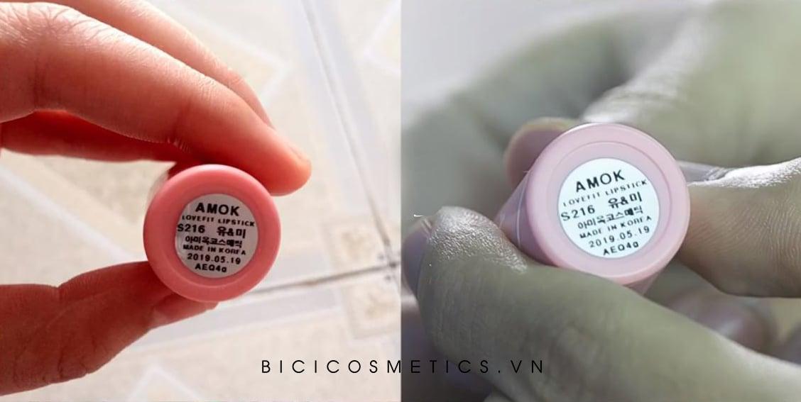 Bạn khách so sánh giữa cây của Bici Cosmetics với một cây mua ở shop khác
