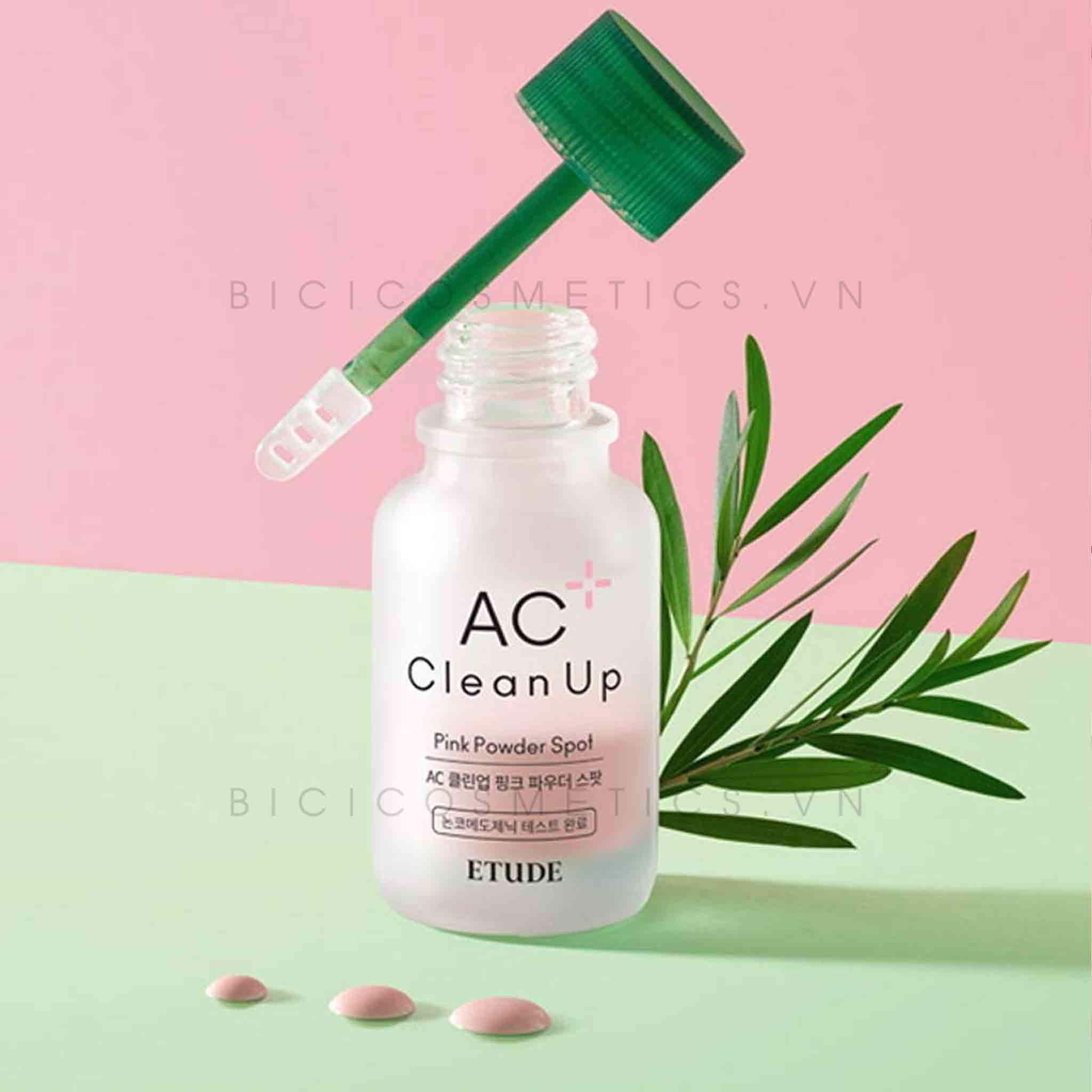 [NEW UPDATE] Chấm Mụn Etude House AC Clean Up Pink Powder Spot 15ml