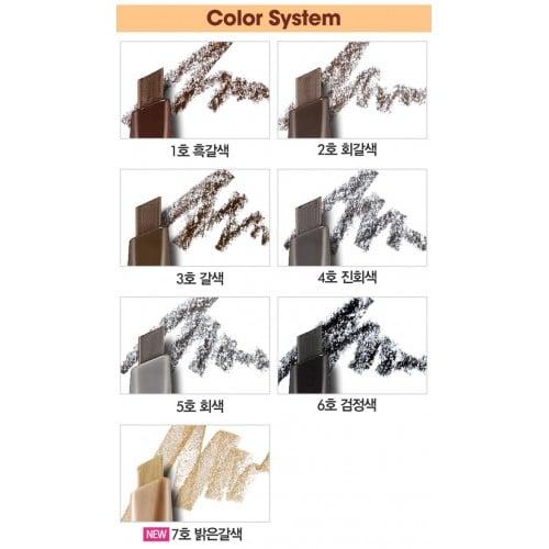 7 tông màu của Bút kẻ mày Etude Drawing Eye Brow 1