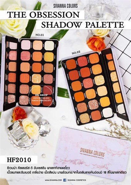 .Bảng Phấn Mắt Sivanna Colors The Obsession Shadow Pallet HF2010