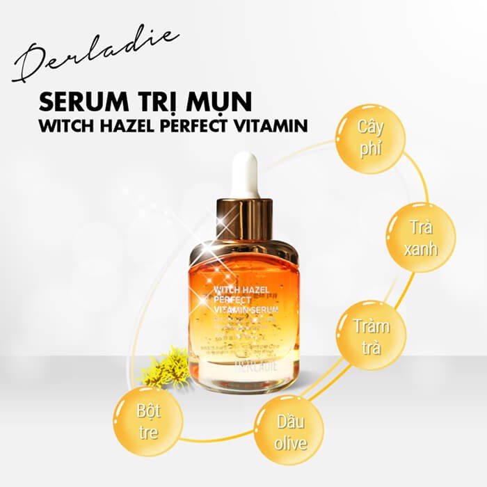 Tinh Chất Trị Mụn Derladie Witch Hazel Perfect Vitamin Serum (35ml)