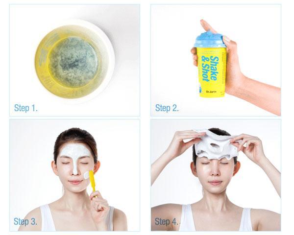 Hướng dẫn sử dụng mặt nạ cao su Dr Jart 1