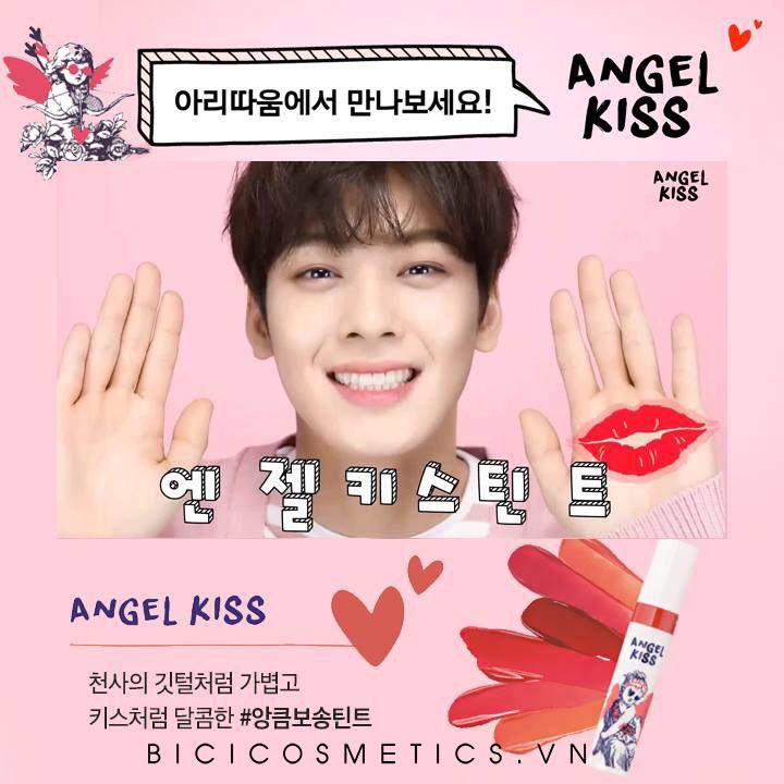 """anh chàng """"Mỹ nam"""" Cha Eun Woo là đại diện cho dòng son Aritaum Angel Kiss Tint"""