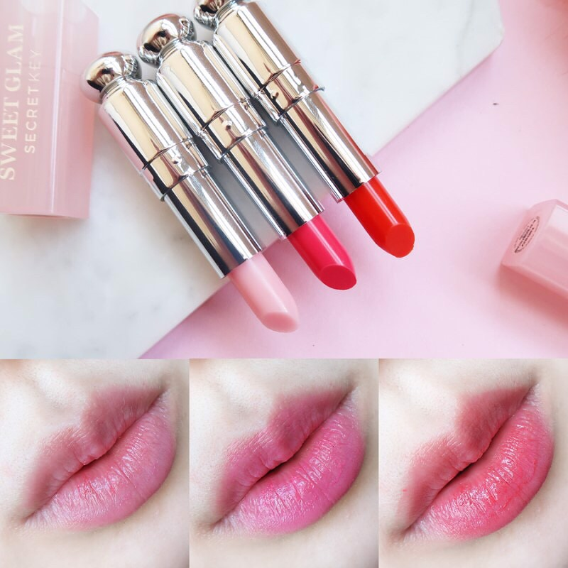 Set 3 son dưỡng có màu Secret Key Sweet Glam Tint Glow Mini Kit