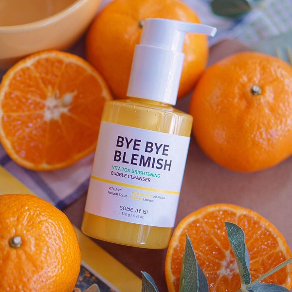 Sữa Rửa Mặt Some By Mi Bye Bye Blemish Vita Tox Brightening Bubble Cleanser 120g