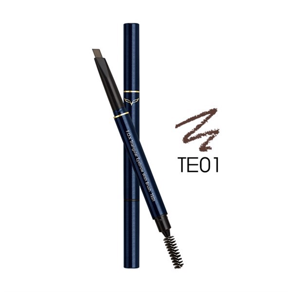Chì Kẻ Mày 2 Đầu F.O.X Triangular Eyebrow With Brush