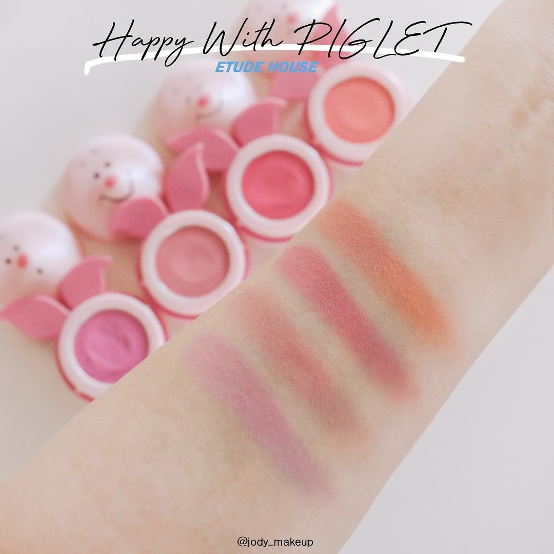Phấn Má Hồng Etude House Happy With Piglet Jelly Mousse Blusher 12-Bici Cosmetics