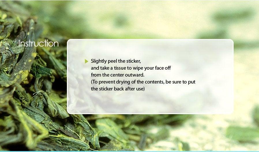 Khăn Tẩy trang Healing Tea Garden Green Tea Cleansing Tissue - bici cosmetics