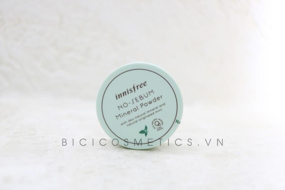 rước hết Phấn Phủ Kiềm Dầu Innisfree No Sebum Mineral Powder có bao bì cưc kỳ đơn giản - Bici Cosmetics