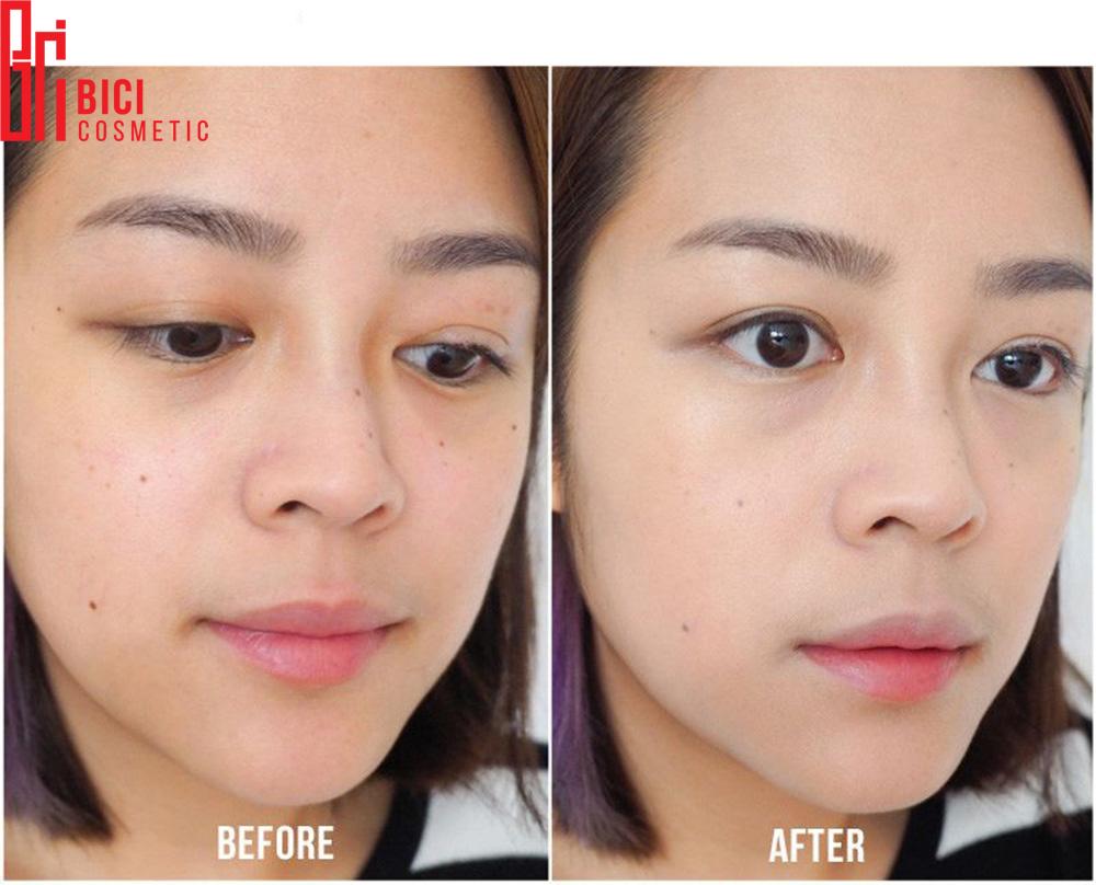 khả năng che phủ của phấn nước April Skin