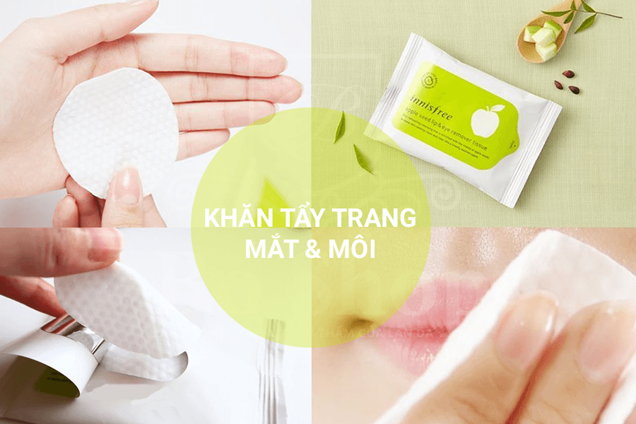 Khăn tẩy trang Innisfree Apple Seed Lip & Eye Makeup Remover Tissue
