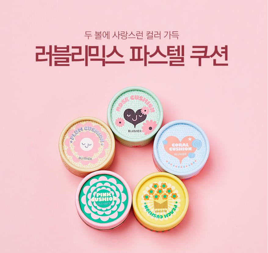 Phấn má hồng Lovely Meex Pastel Cushion Blusher 1