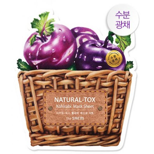 Mặt nạ Natural-Tox Kohrabi The Saem-Moisturizing & Radiating