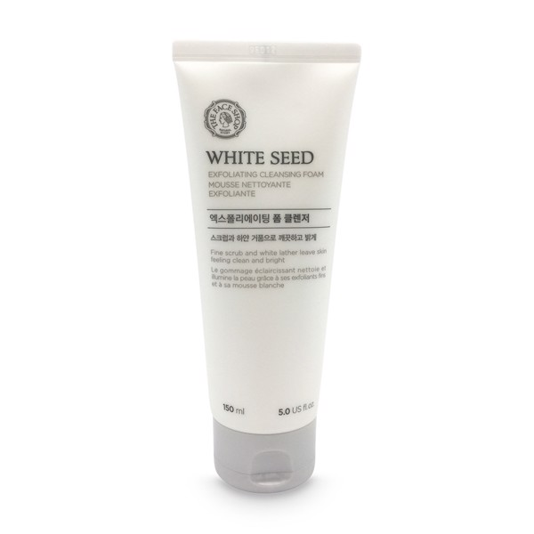 Sữa rửa mặt The Face Shop White Seed Exfoliating Cleansing Foam
