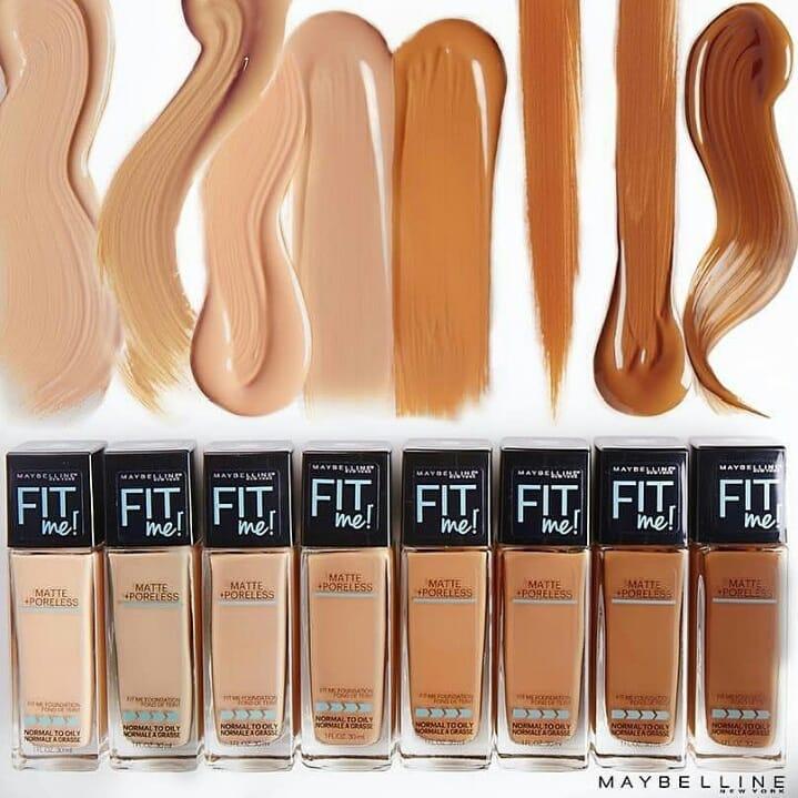 Kem Nền Maybelline Fit Me Foundation có các tông màu cực kì đa dạng 1