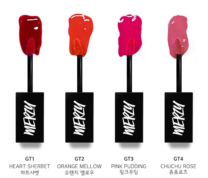 4 tông màu trẻ trung của MERZY Another Me The First Gel Tint 1