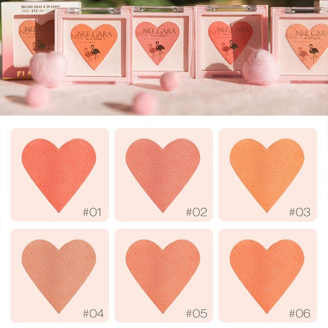 Phấn Má Hồng Nee Cara Blush Duo 4 In Love N214