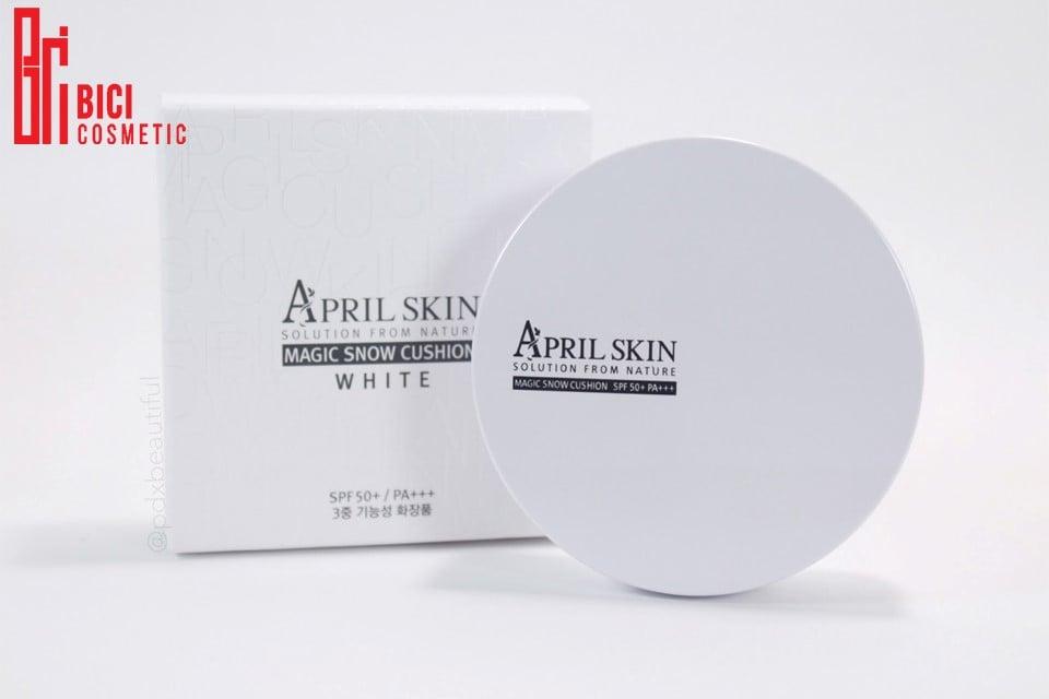 phấn nước April Skin vỏ trắng