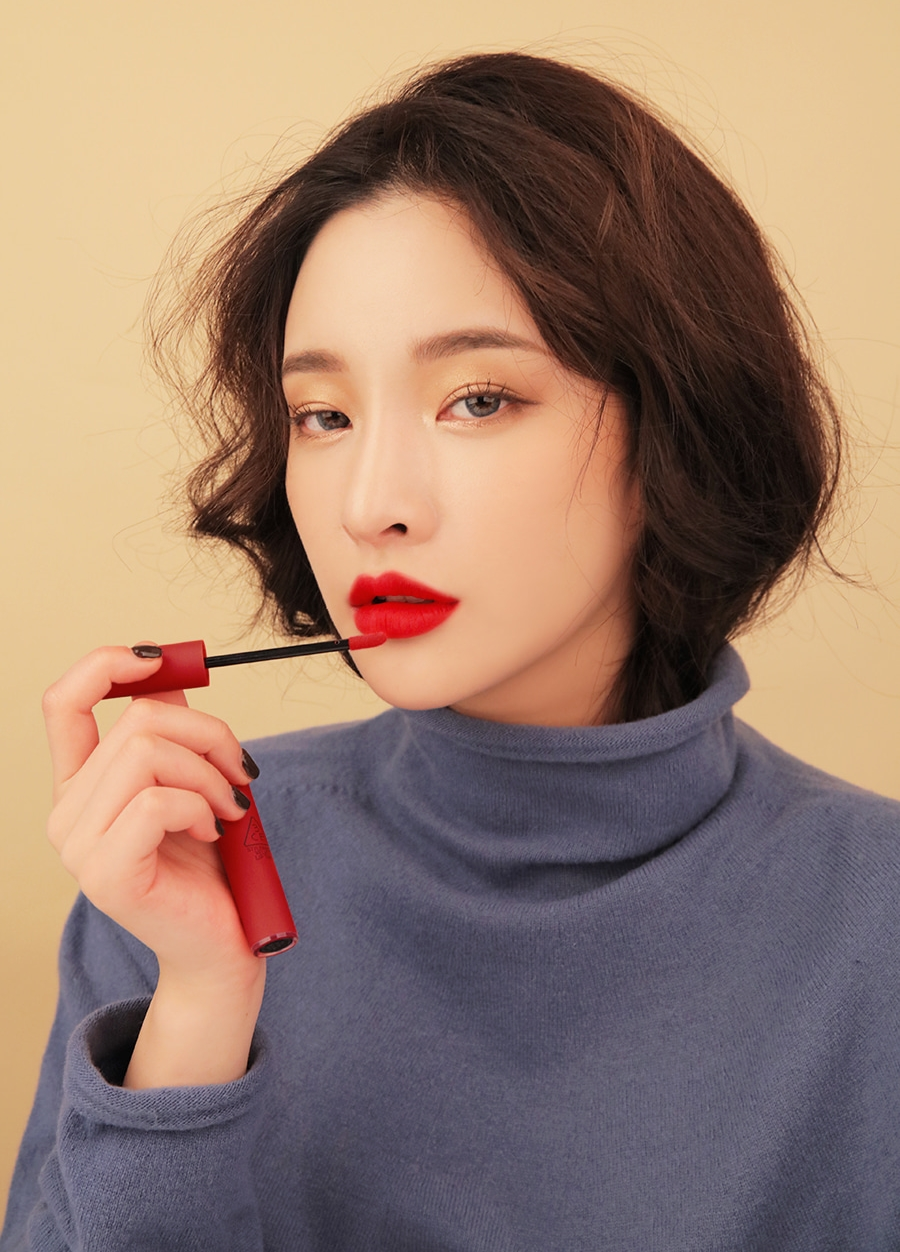 Son 3CE Velvet Lip Tint Private (Đỏ Lạnh) 1