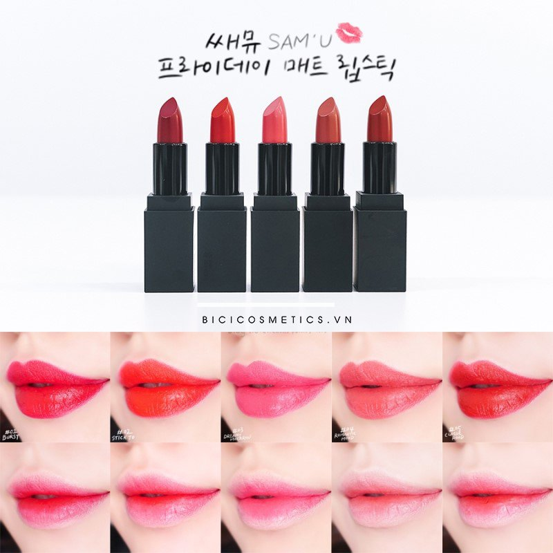 SAM'U Friday Matt Lipstick - Bici Cosmetics9