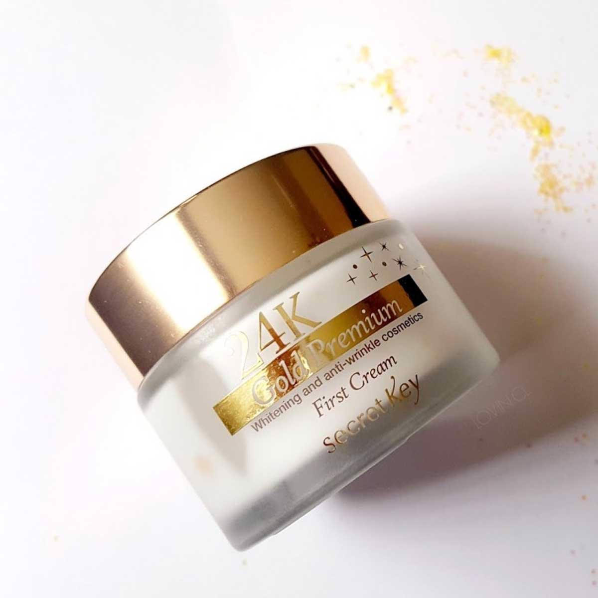 Sample Kem Dưỡng Da Secret Key 24K Gold Premium First Cream 1ml