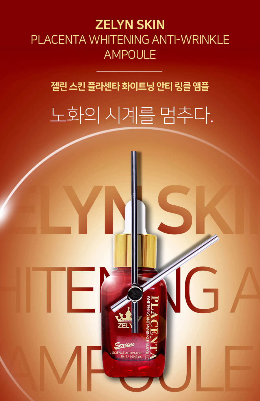 Zelyn Placenta Whitening Anti-Wrinkle Ampoule-bicicosmetics.vn