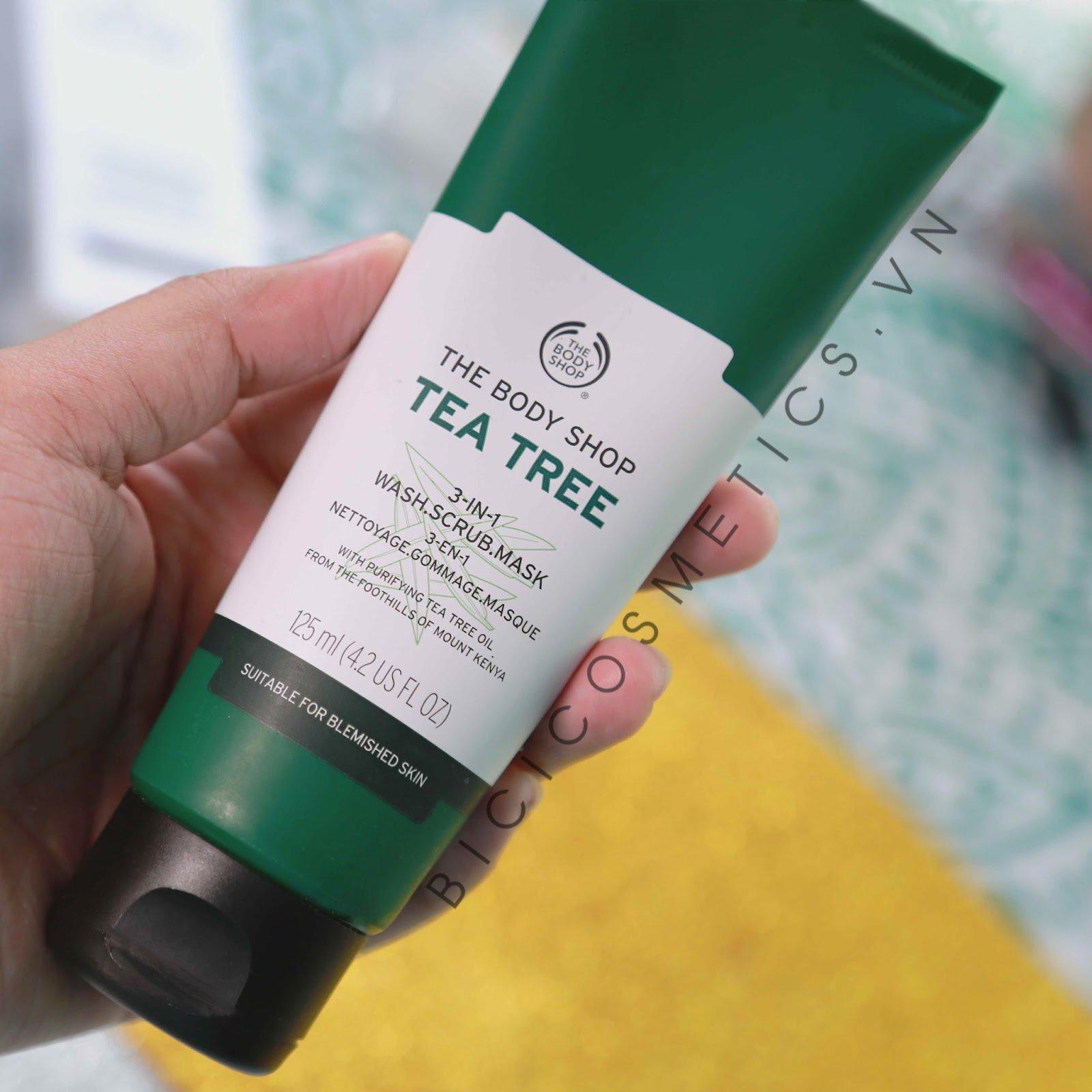 Tea Tree3-In-1 Wash Scrub Mask -bicicosmetics