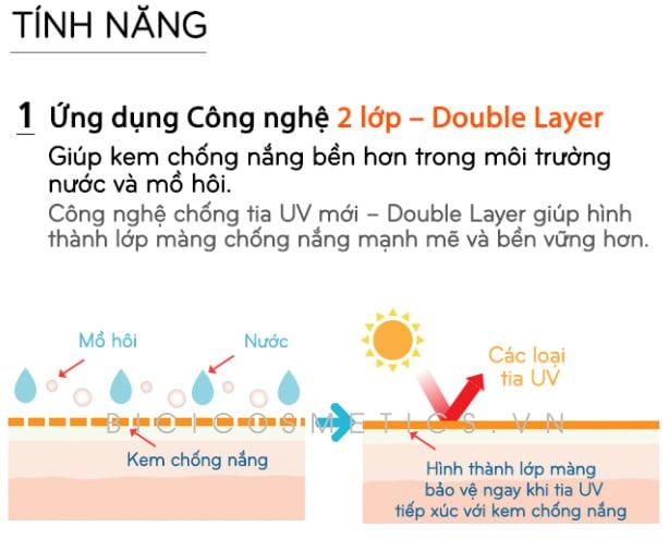 Chỉ số chống nắng cao SPF50+/PA++++ có khả năng chống nắng hơn 8 tiếng 1