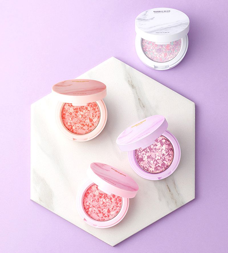 Phấn Má Hồng Sáng Da The Face Shop Marble Beam Blush & Highlighter - Bici Cosmetics