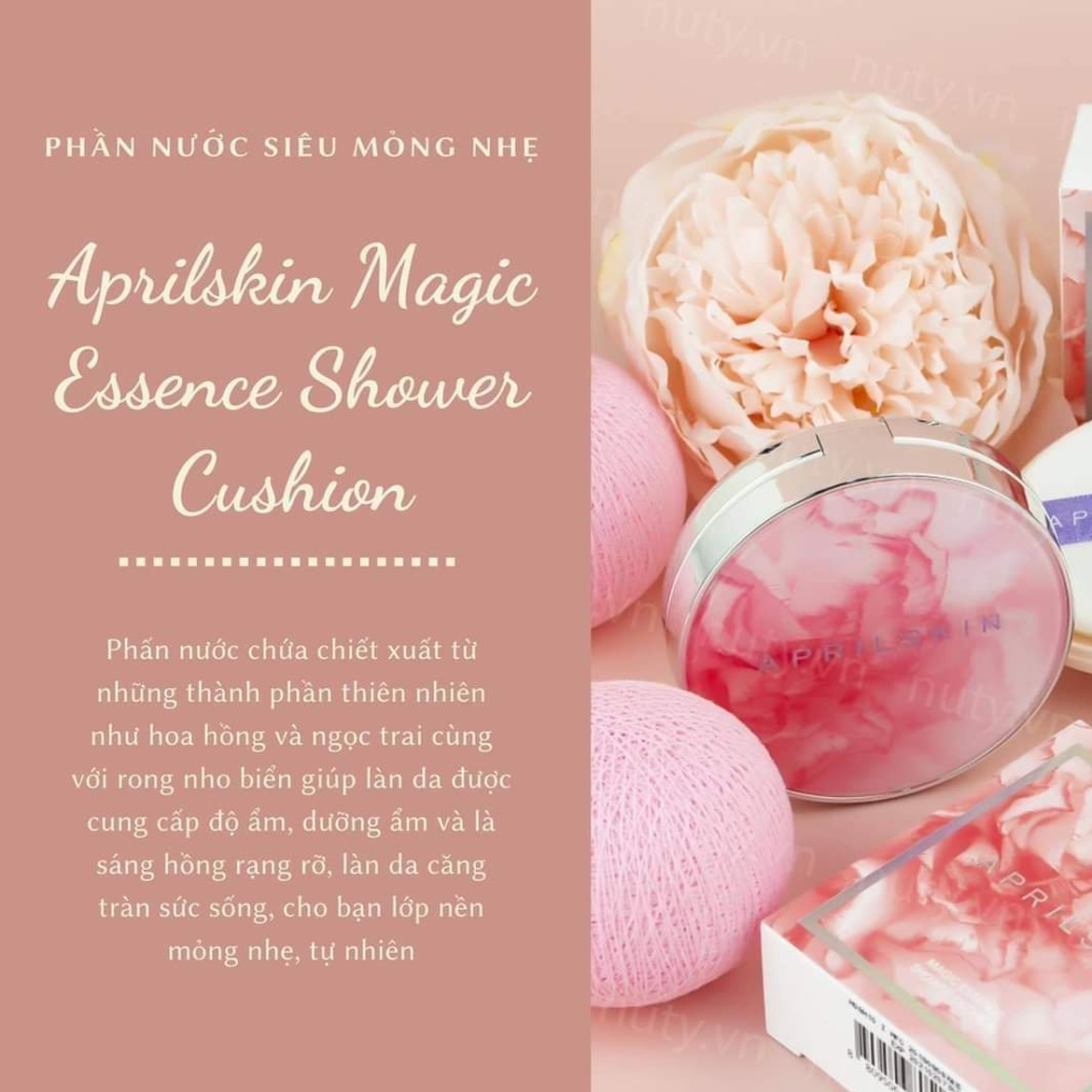 Phấn Nước Aprilskin Magic Essence Shower Cushion - No.23