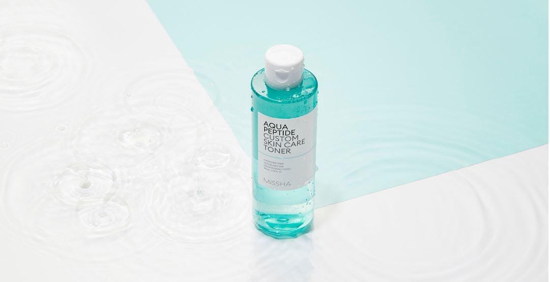 Nước Hoa Hồng Missha Aqua Peptide Custom Skin Care Toner - Bici Cosmetics