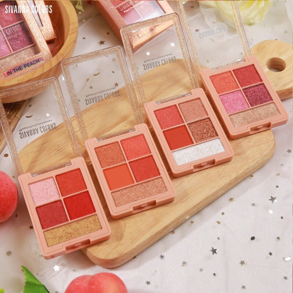Màu Mắt Nhũ 5 Ô Sivanna Colors Peach Pro Eyeshadow HF6031
