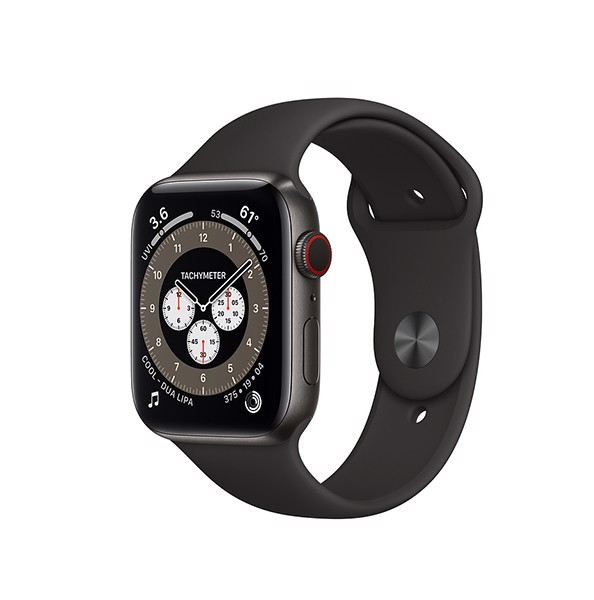 Apple Watch Series 6 LTE - Titan 44mm Gray Dây Cao Su