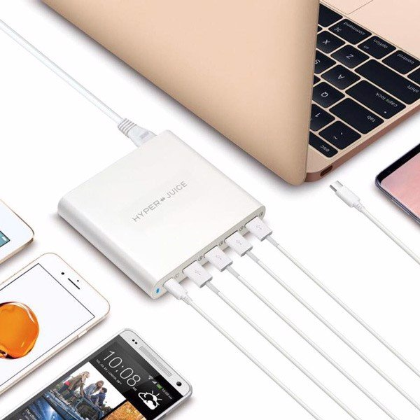 HyperJuice 80W USB-C Charger 4 Cổng QC 3.0 USB
