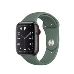 Apple Watch Series 5 Gray Titanium / Green Band (LTE) 40mm