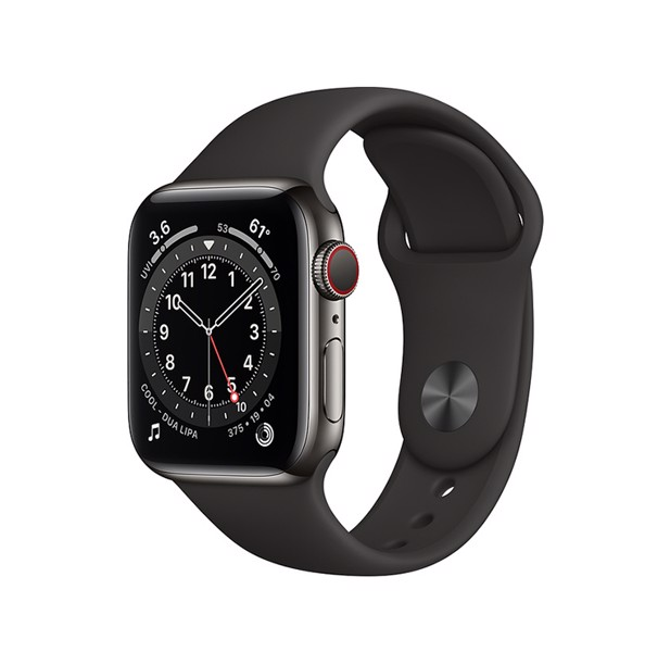 Apple Watch Series 6 LTE - Thép 44mm Dây Cao Su