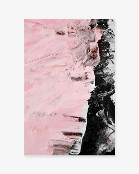 Bộ 2 Tranh Abstract Pink Black Painting