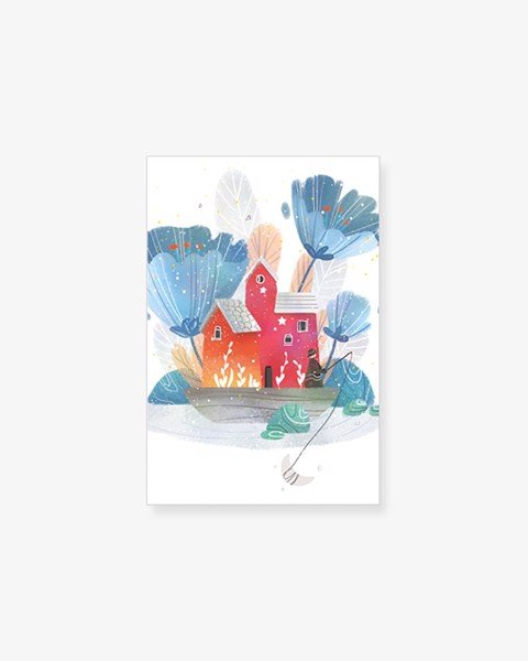 Tranh Canvas Flower Landscape Illustration