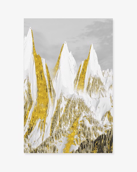 Tranh Landscape Mountain Gold