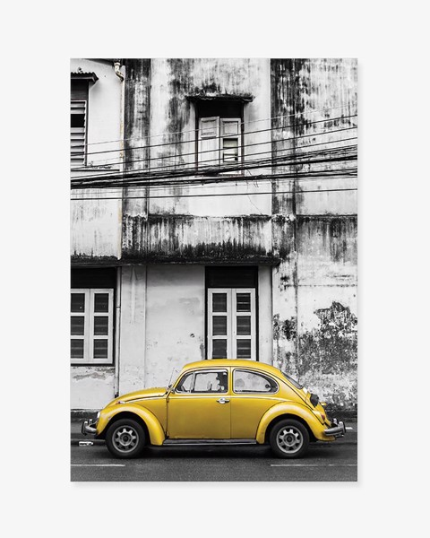 Tranh Street Yellow Car