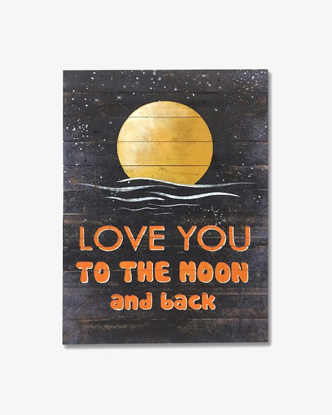 Tranh Gỗ LOVE YOU TO THE MOON & BACK 1