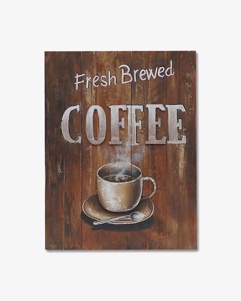 Tranh Gỗ FRESH BREWED COFFEE 2