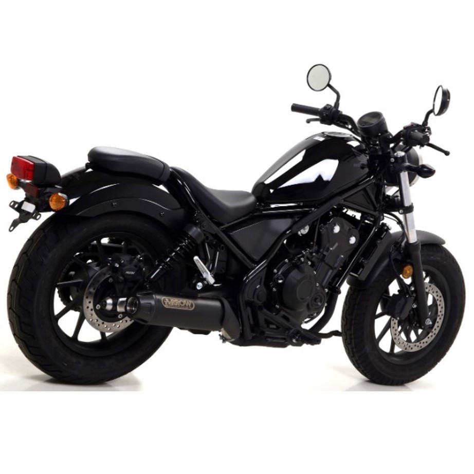 "Pô Arrow ""Dark"" Silencer Slip-on cho Honda Rebel 300-500"