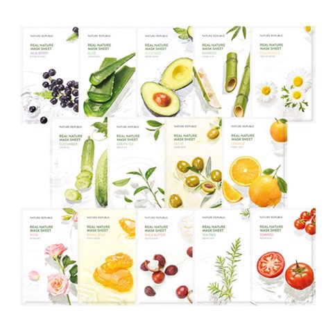 Combo 5 Real Nature Mask sheets
