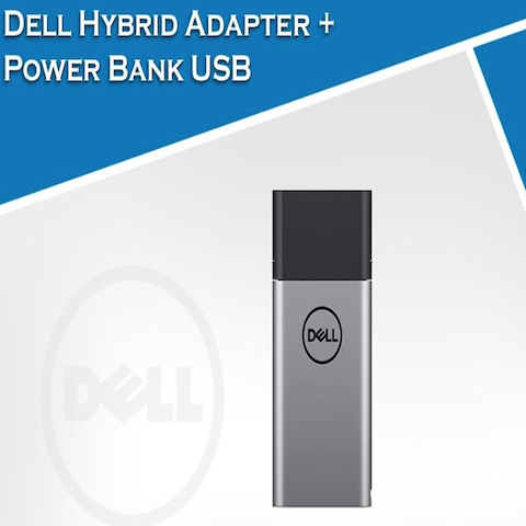 DELL HYBRID AC ADAPTER 45W+POWER BANK 43Wh/USB C