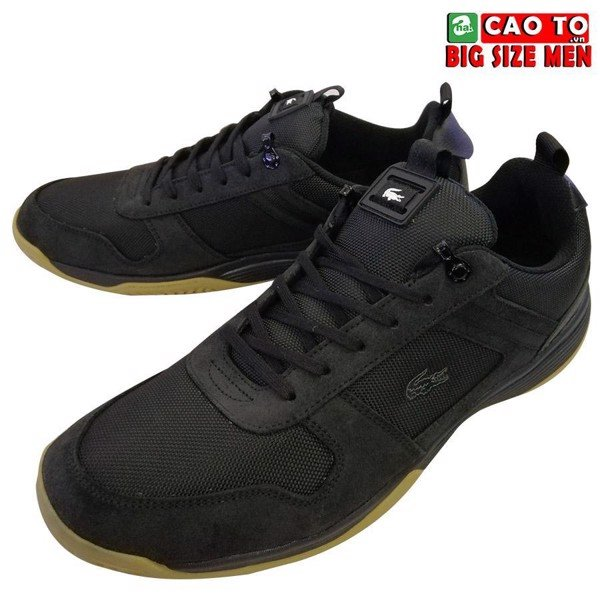 Giày Mens Lacoste Joggeur Black brown Big Size