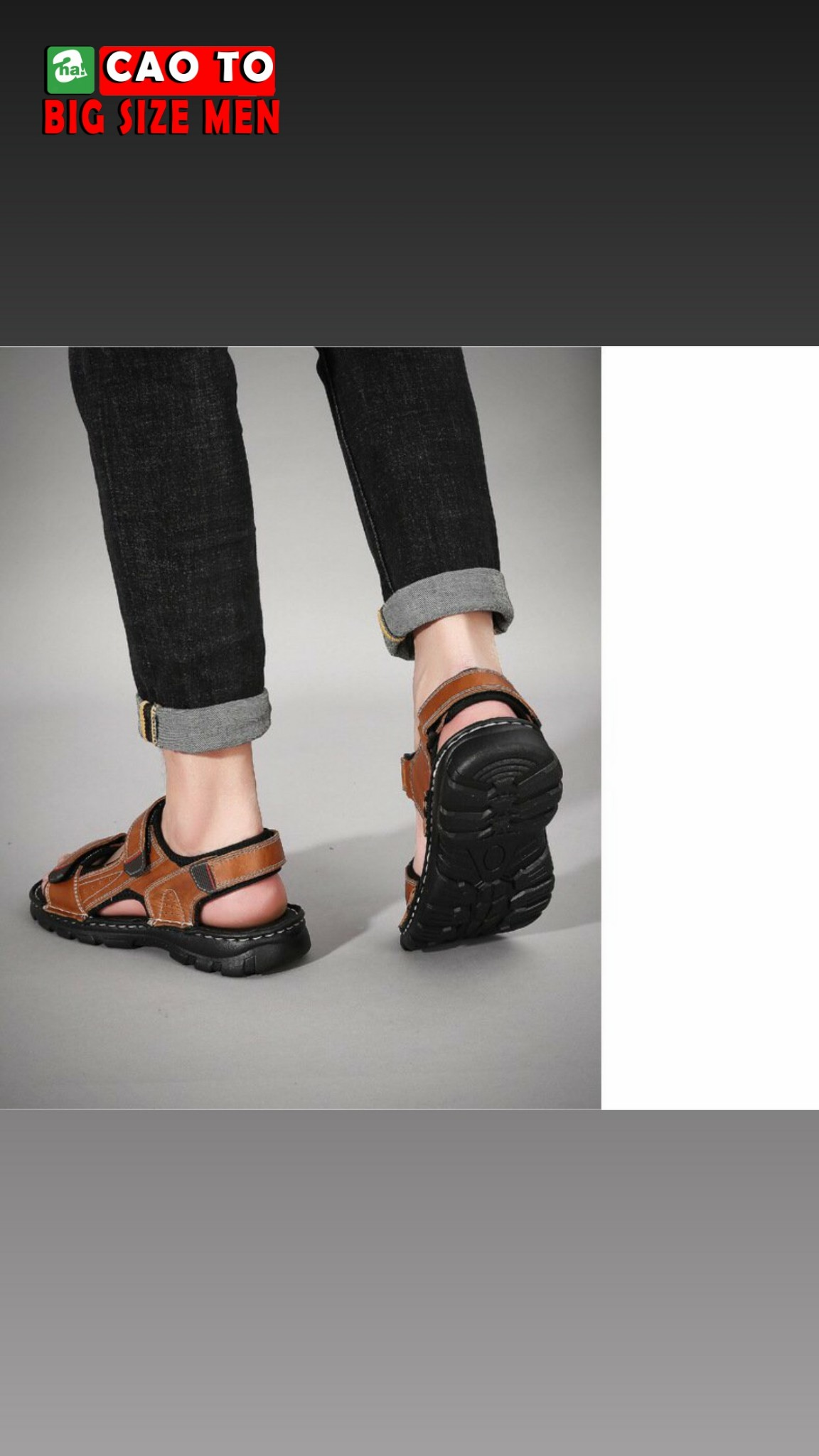 giày sandal nâu size 45 46 47 48 49