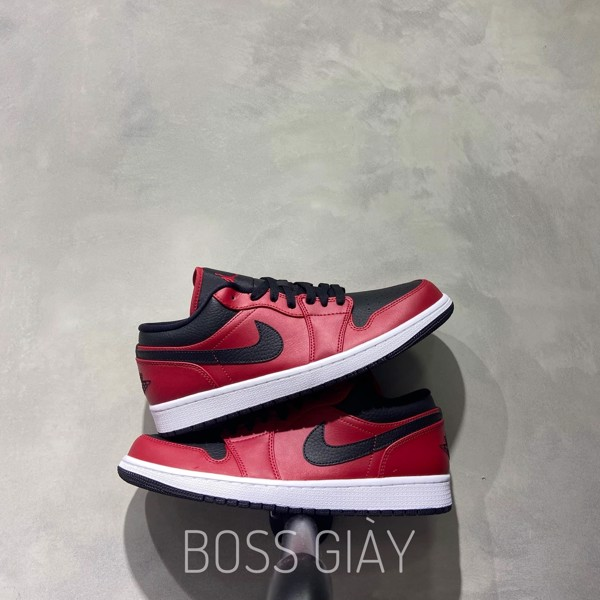 [553558-605] JORDAN 1 LOW GYM RED BLACK
