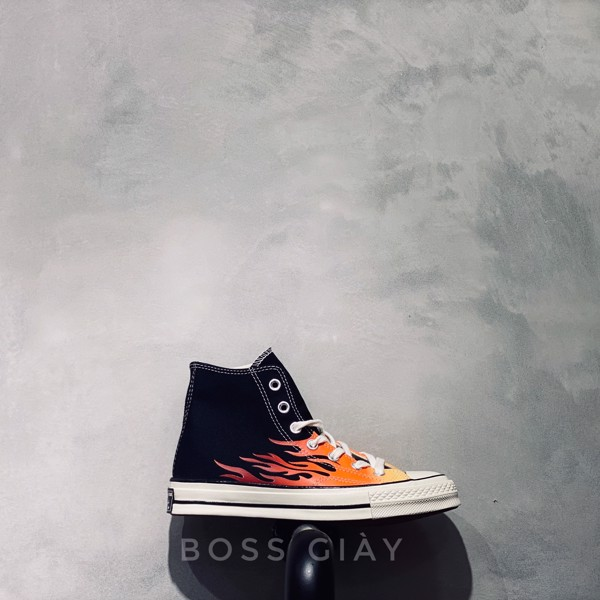 [165024C] CONVERSES 1970S HIGH BLACK FIRE