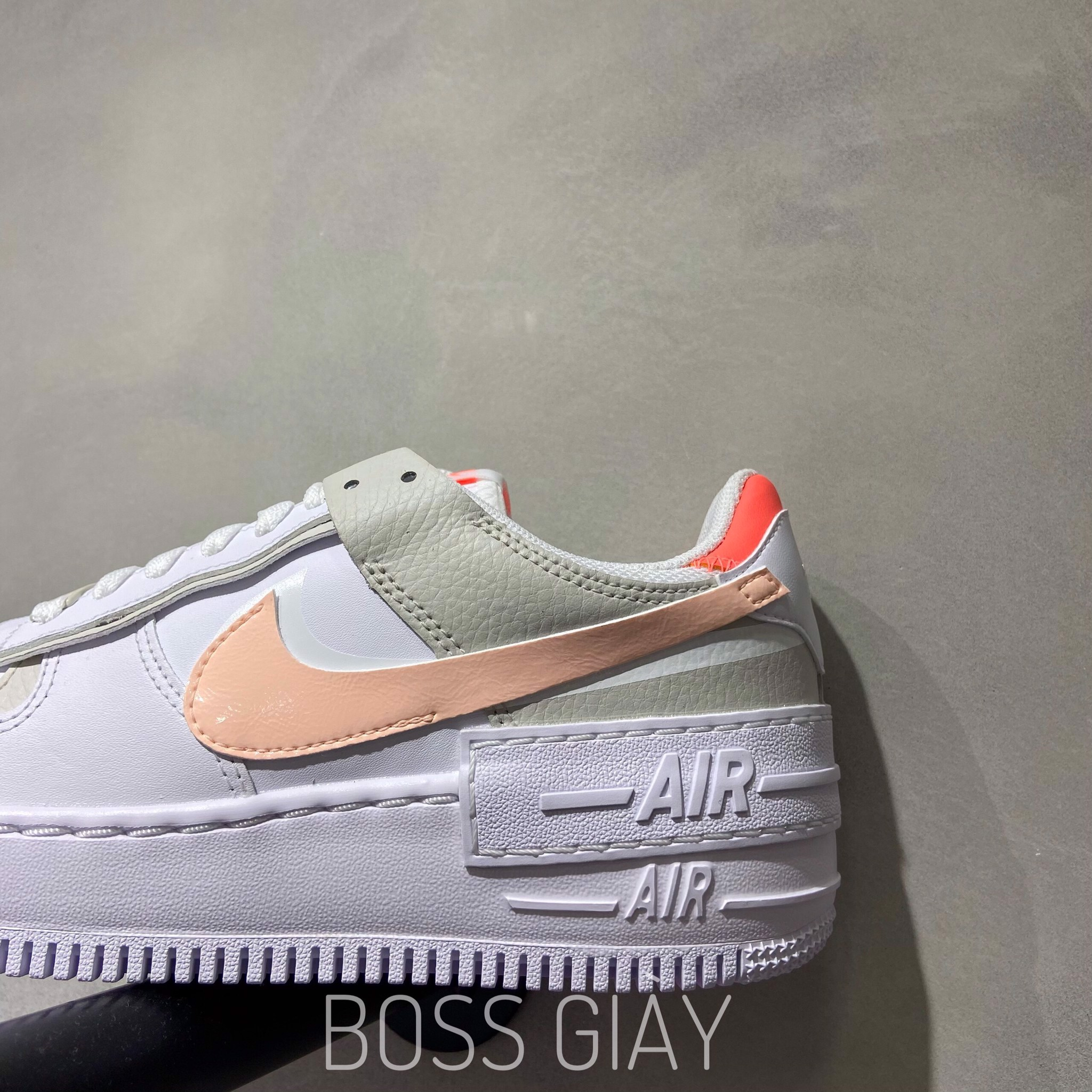[DH3896-100] NIKE AIR FORCE 1 SHADOW MANGO-PEARL